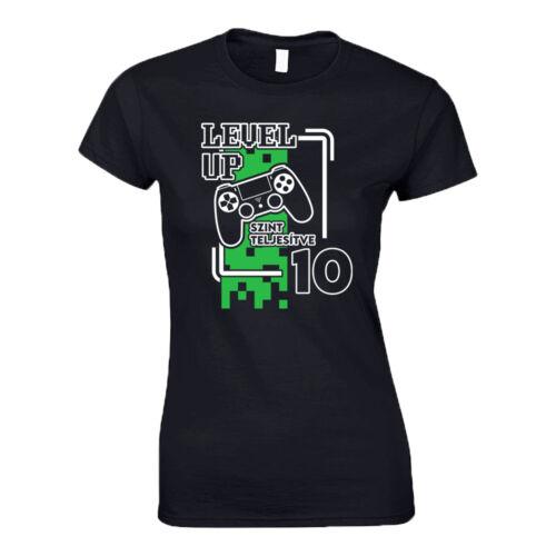 Level Up női póló (Fekete)
