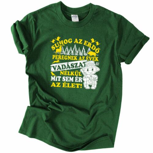 Suhog az erdő férfi póló  (Sötétzöld)
