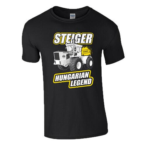 Rába Steiger - Hungarian Legend férfi póló (Fekete)