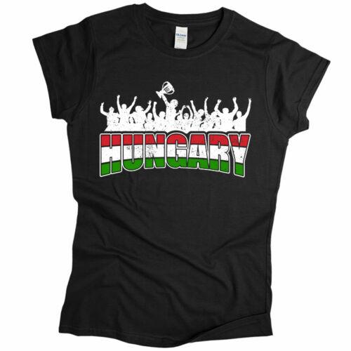 Hungary női póló (Fekete)