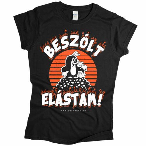 Kisvakond - Beszólt, Elástam női póló (Fekete)