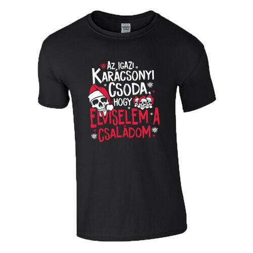 Az igazi karácsonyi csoda póló (Fekete)