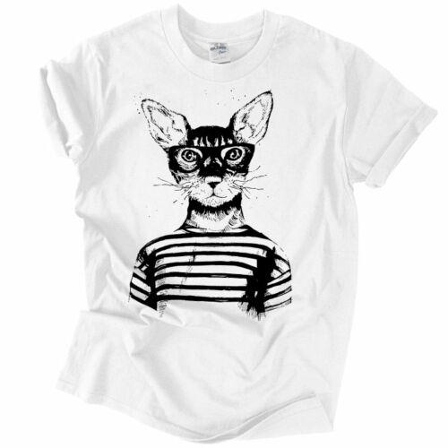 Hipster Cat póló (Fehér)