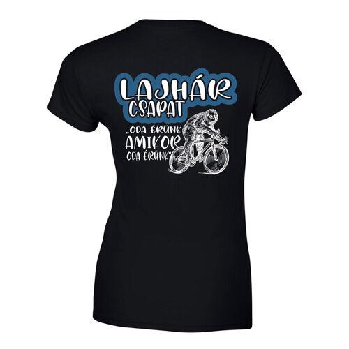 Lajhár csapat női póló (fekete)