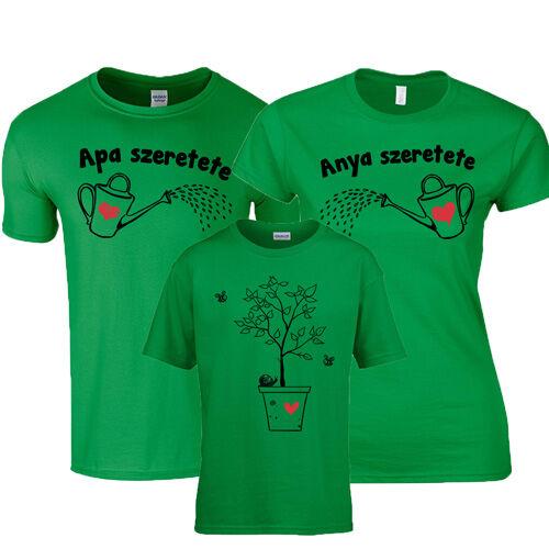 Anya - Apa szeretete családi póló szett (Zöld)