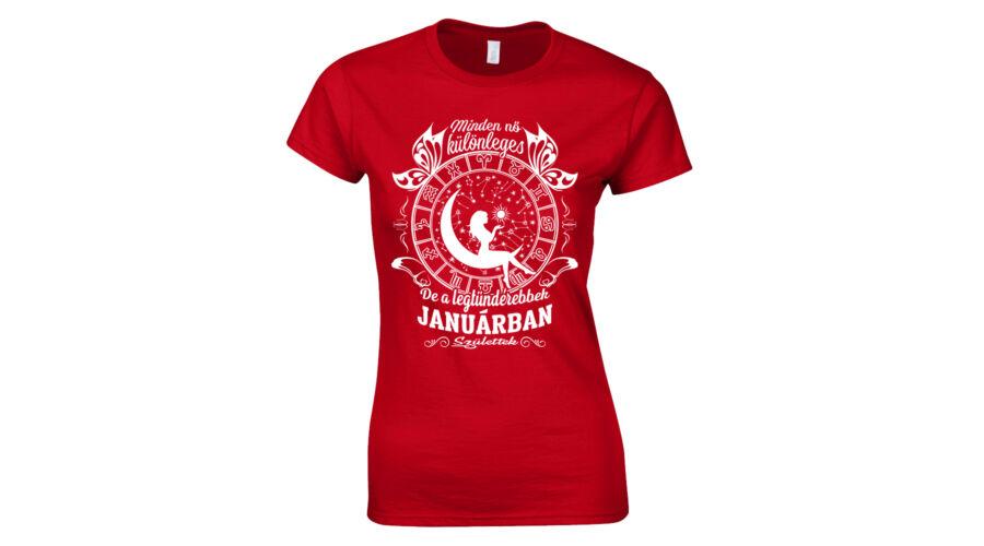 Tündéri nők - születésnapi női póló (Piros) c2fe998d7e